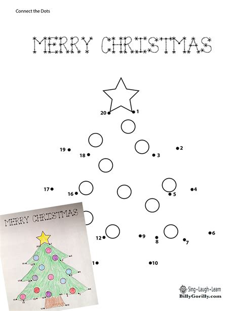 connect the dots christmas tree tree dot to dot sing laugh learn