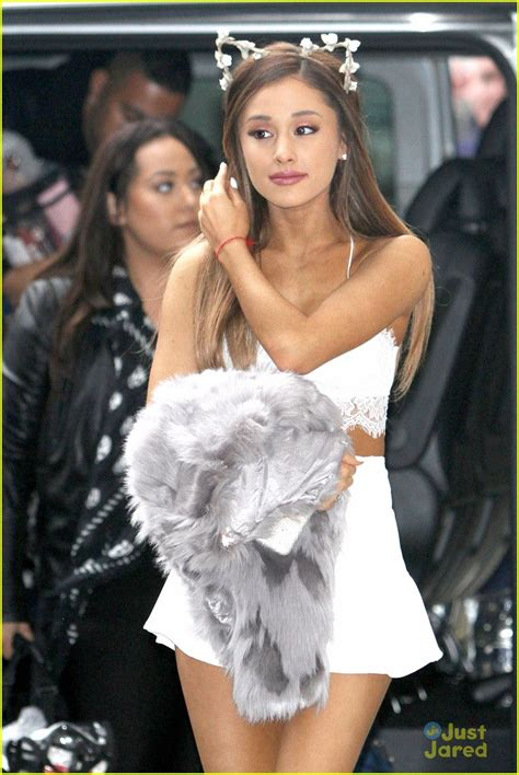 ariana grande mini biography ariana grande braves the chilly weather wears a tiny