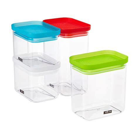 Airtight Pantry Storage Containers by Rectangular Canisters The Container Store