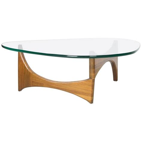 Organic Walnut And Glass Coffee Table By Adrian Pearsall Adrian Pearsall Coffee Table For Sale