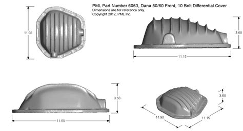 weather pattern exles pml dana 50 dana 60 front end differential covers