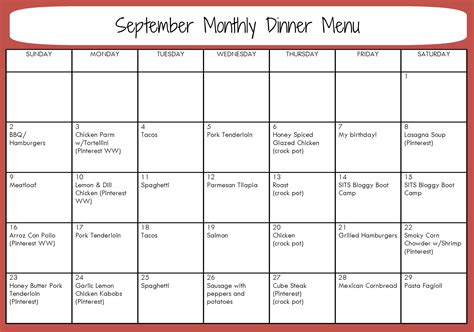updated free monthly menu planning template and meal list