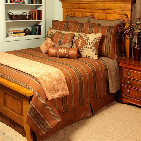 rust coverlet western bedding king size genghis rust reversible