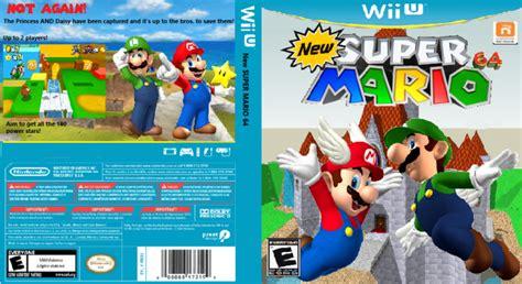 super mario 64 ds wii new super mario 64 wii u box art cover by mariobrosfan123