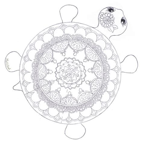 turtle mandala coloring pages colouring in pages hattifant adult coloring therapy