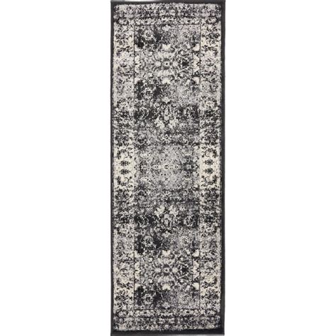 2 X 6 Runner Rugs Unique Loom Istanbul Light Gray 2 Ft X 6 Ft Runner Rug 3134677 The Home Depot