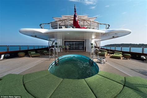 vip boat swim platform luxury yacht nirvana spas cinemas and even a reptile