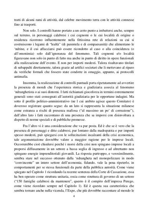 Tali Rami Lu quinta relazione semestrale comitato antimafia