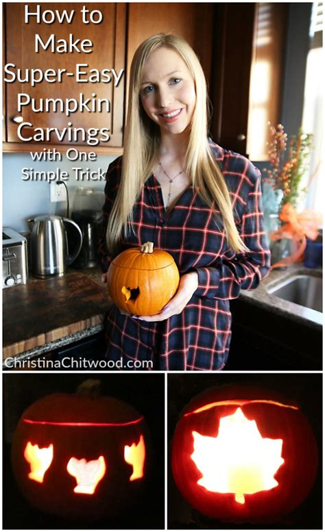 how to make easy pumpkin carvings with one simple trick