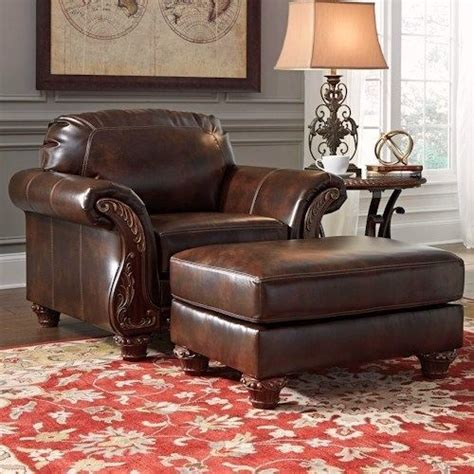 Vanceton Brown Leather Traditional Wood Sofa Loveseat | vanceton brown leather traditional wood sofa loveseat