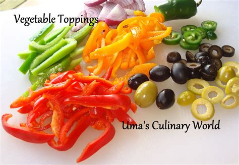 uma s culinary world homemade vegetable pizza