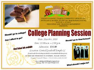 College Planning United Goodwill Temple Community Church Inc College