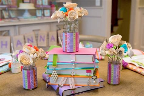 book themed decorations kara s ideas bedtime stories book themed birthday