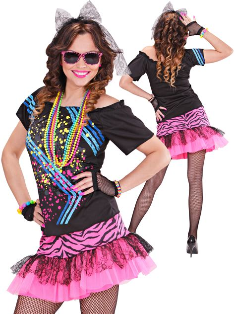 1980s rock costume adults 80s neon fancy dress