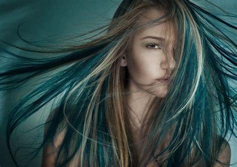 teal color hair
