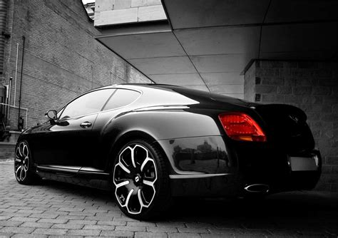 black bentley back bentley gts black edition car pictures images