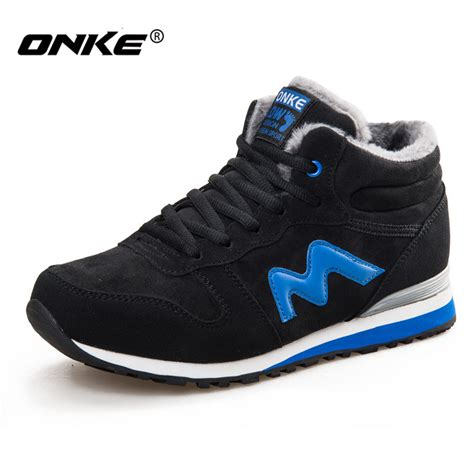 leather sport shoes onke winter running shoes suede leather sport shoes