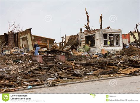 house missouri tornado damaged house joplin mo royalty free stock images