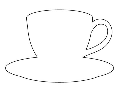 Coffee Cup Pattern Use The Printable Outline For Crafts Creating Stencils Scrapbooking And Cup Template Printable
