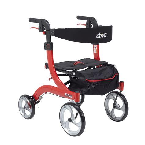 drive rollator rtl10266 h nitro euro style walker rollator drive medical