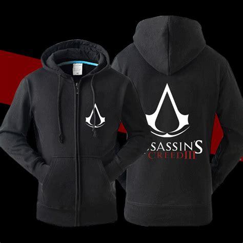jacket design games cool designer men assassin creed hood jacket fleece