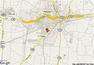 Heath Ohio Map map of hampton inn heath newark oh heath