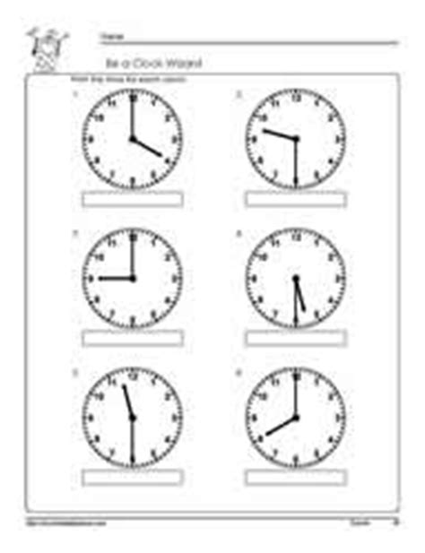clock worksheets hour and half hour tellling time half hour worksheets