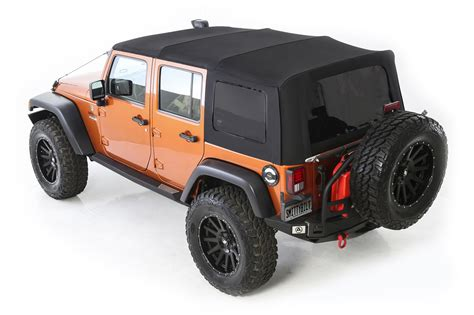 jeep wrangler unlimited soft top smittybilt premium replacement canvas soft top with tinted