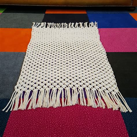 how to make a macrame rug diy macrame kit for easy bath mat or rug cotton rope macrame wallhanging make a macrame mat