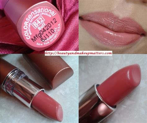 maybelline color sensational moisture lipstick buff b42 review swatches lotd
