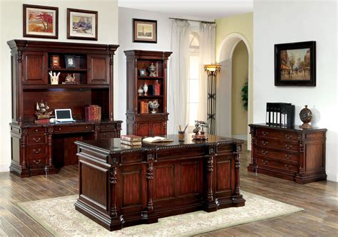 Cherry Home Office Furniture Roosevelt Cherry Home Office Set From Furniture Of America Cm Dk6252d Set Coleman Furniture