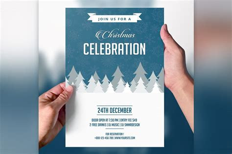 invitation flyer christmas party invitation flyer flyer templates