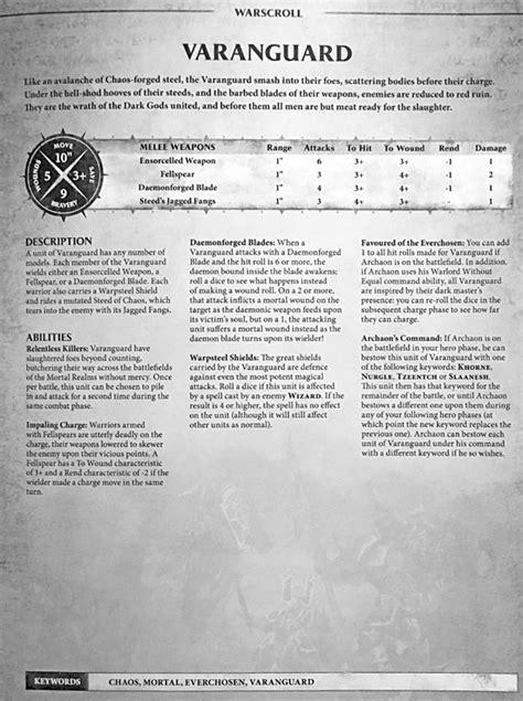 GW: Everchosen & Varanguard Details