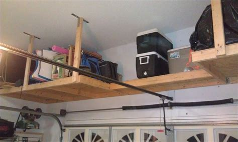 Garage Storage Above How To Build Garage Storage Overhead Woodworking