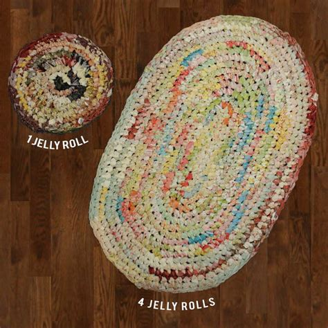 how to crochet a rug with fabric moda crochet rugs learn how to make a rug from jelly rolls fabric depot thread fiber