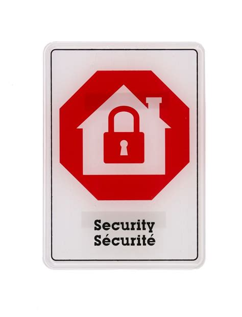 hillman 5x7 sign internat security the home depot canada