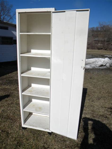 Metal Pantry Cabinet by Reserve For Lisanne Shape Vintage Mid Century Metal