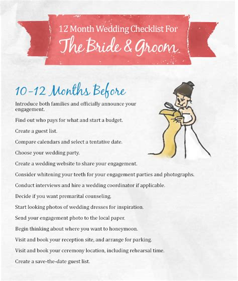 6 Month Mba by 10 Month Wedding Checklist Wedding Ideas
