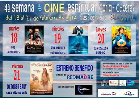 cine en coria semana cine espiritual coria c 225 ceres 4 pel 237 culas conmover