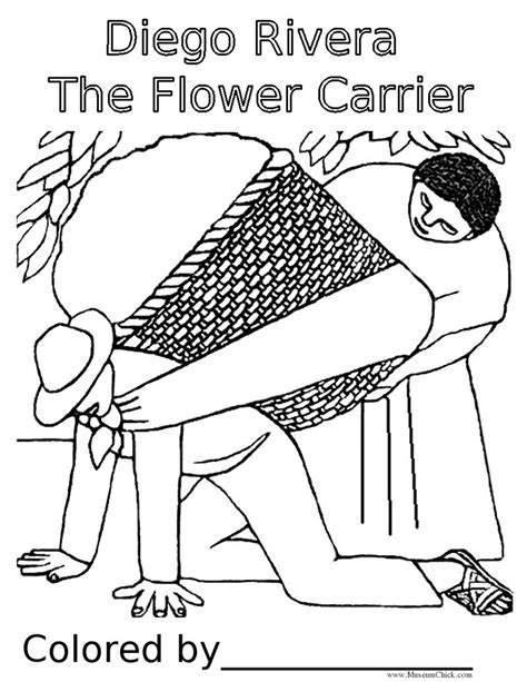 Free Spanish Flower Coloring Pages Diego Rivera Coloring Pages