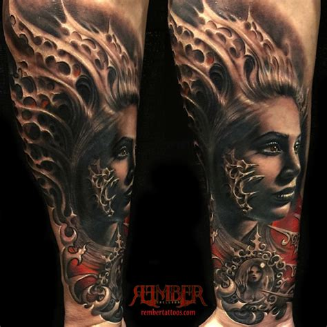 gothic portrait by rember dark age tattoo studio tattoonow