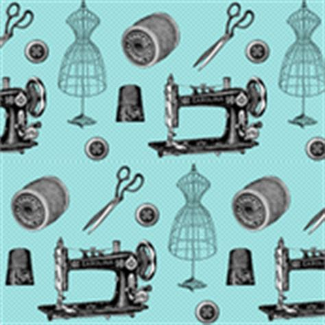 vintage teppiche türkis sewing machines fabric wallpaper gift wrap spoonflower