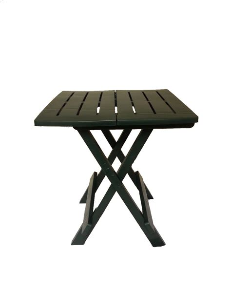 small plastic folding table napoli small folding green portable plastic cing