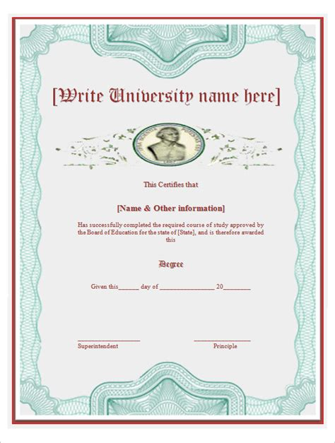 degrees templates bachelor degree certificate template planner template free