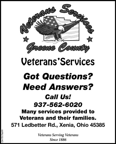 questions  answers veterans services greene