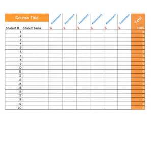Printable Grade Sheet Template by Common Worksheets 187 Printable Grade Sheet Preschool And