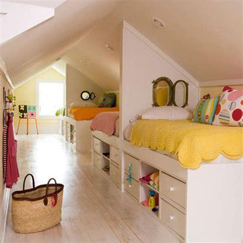 childrens bedroom ideas bright attic room for children