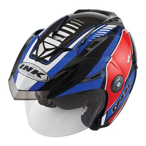 Ink T1 Solid Blue helm ink t1 seri 3 pabrikhelm jual helm murah