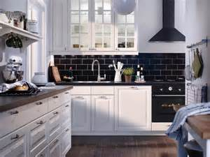 ikea kitchen backsplash black and white floors and love the on pinterest