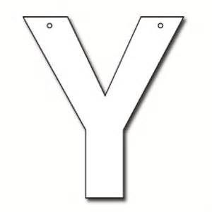 cut out letter y cardboard ea supplies